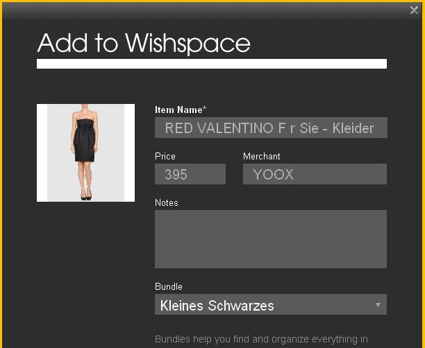 Add to Wishspace